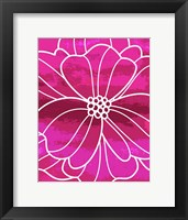 Framed Flower Outline I