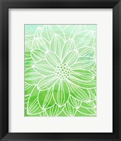 Framed Flower Outline III