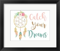 Framed Catch Your Dreams Boho