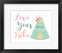 Framed Love Your Tribe Boho