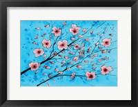 Framed Pink Flowers II