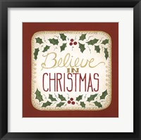 Framed Believe in Christmas