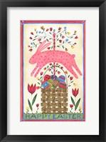 Framed Happy Easter Pink