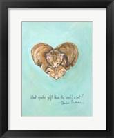 Framed Love of a Cat
