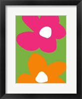 Framed Flower Power I