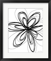 Framed Black Ink Flower I