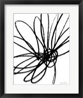 Framed Black Ink Flower II