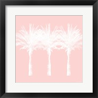 Framed White and Pink Palm Trees