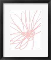 Framed Inky Flower II