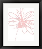 Framed Inky Flower III