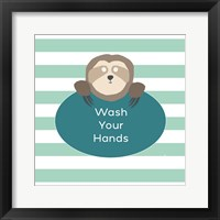 Framed Wash Hands Sloth