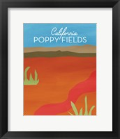 Framed California Poppy Fields