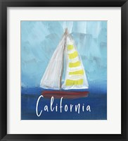 Framed California Sailing