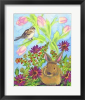 Framed Bunny and Sparrow