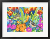 Framed Titmouses and Tulips