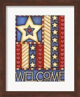 Framed American Star Welcome