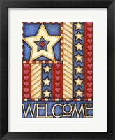 Framed American Star Welcome