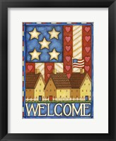 Framed American Welcome Cottage