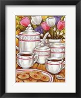 Framed Coffee Sugar Cream