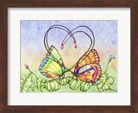Framed Lovely Butterflies