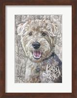 Framed Lucky Dog Welsh Terrier