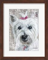 Framed Lucky Dog Westie