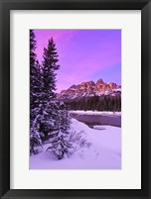 Framed Castle Sunset