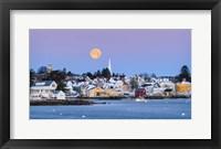 Framed Coastal Moon