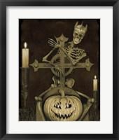 Framed Halloween Graveyard - A