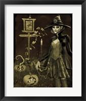 Framed Halloween Graveyard - C
