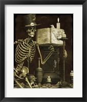 Framed Halloween Graveyard - D
