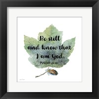Framed Scripture Leaf - B