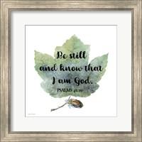 Framed Scripture Leaf - B
