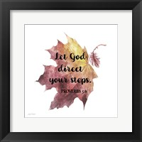 Framed Scripture Leaf - D