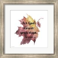 Framed Scripture Leaf - D