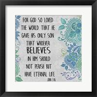Framed Paisley Bible Verse - A