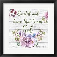 Framed Garden Florals Bible Verse - A