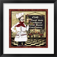 Framed Bistro Chef - D