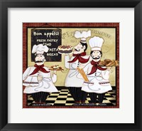 Framed Bistro French Chefs - A