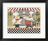Framed French Cafe Chefs