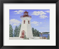 Framed Winter Lighthouse A