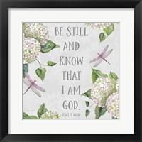 Framed Bible Verse With Hydrangeas - A