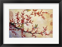 Framed Butterfly Blossoms - Asian