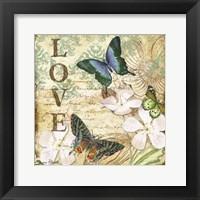 Framed Inspirational Butterflies - Love