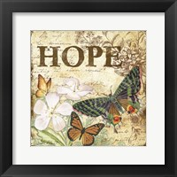 Framed Inspirational Butterflies - Hope