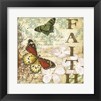 Framed Inspirational Butterflies - Faith