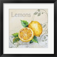 Tutti Fruiti Lemon Framed Print