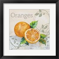 Tutti Fruiti Orange Framed Print