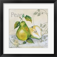 Tutti Fruiti Pear Framed Print
