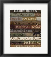 Framed Cabin Rules On Wood